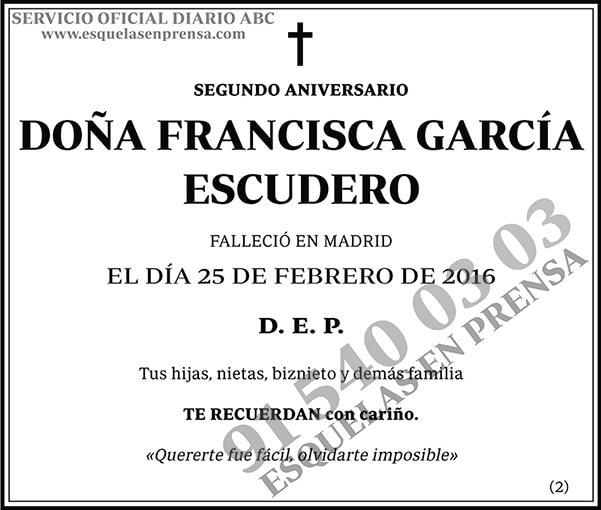 Francisca García Escudero